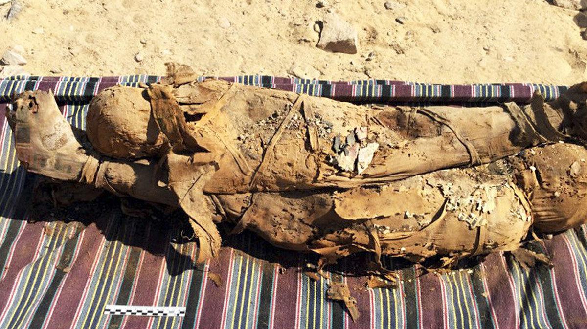 Múmias encontradas no Mausoléu Aga Khan, na cidade egípcia de Assuã