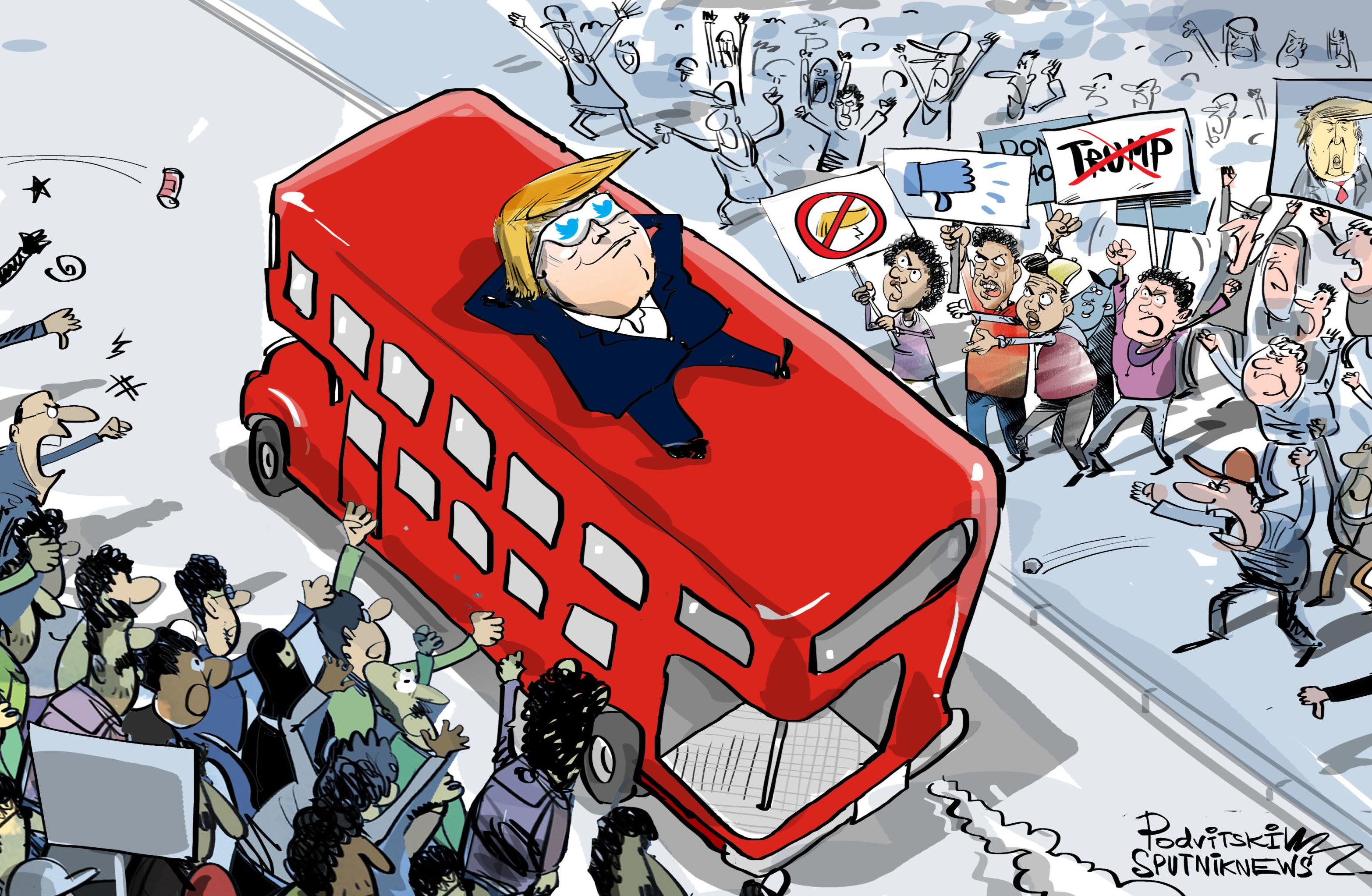 Protestos que só Trump não vê