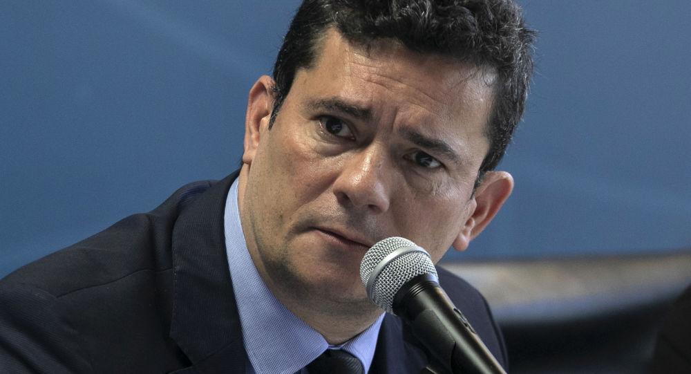 Ministro da Justiça, Sergio Moro, discursa na Secretaria de Estado de Segurança Pública, Brasília, 19 de fevereiro de 2019