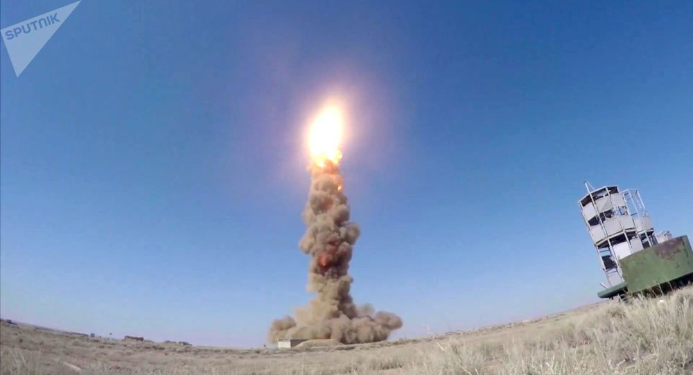 Lançamento do sistema de defesa antimíssil russo no polígono de Sary-Chagan, Cazaquistão (imagem de arquivo) [© Sputnik / Ministério da Defesa da Rússia]