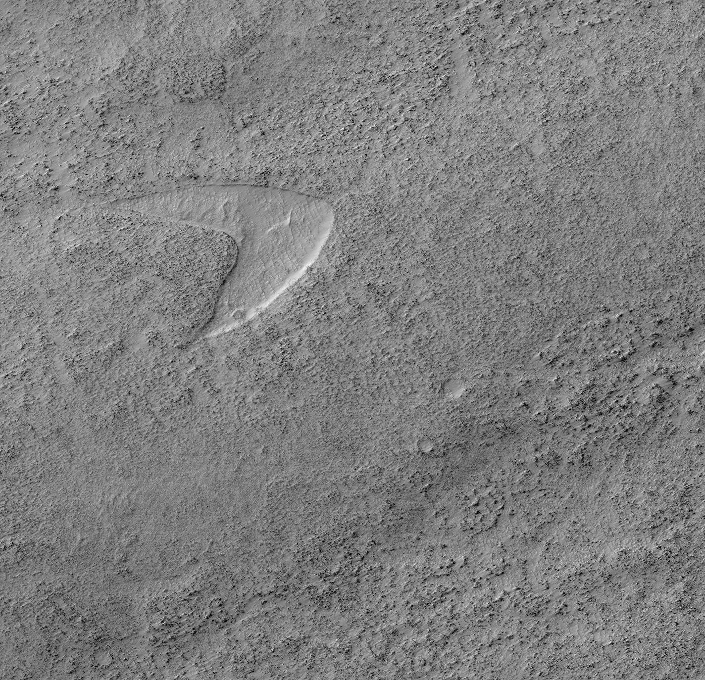 Símbolo de Jornada nas Estrelas é encontrado em Marte
