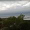Céu dinamarquês é cortado ao meio durante tempestade
