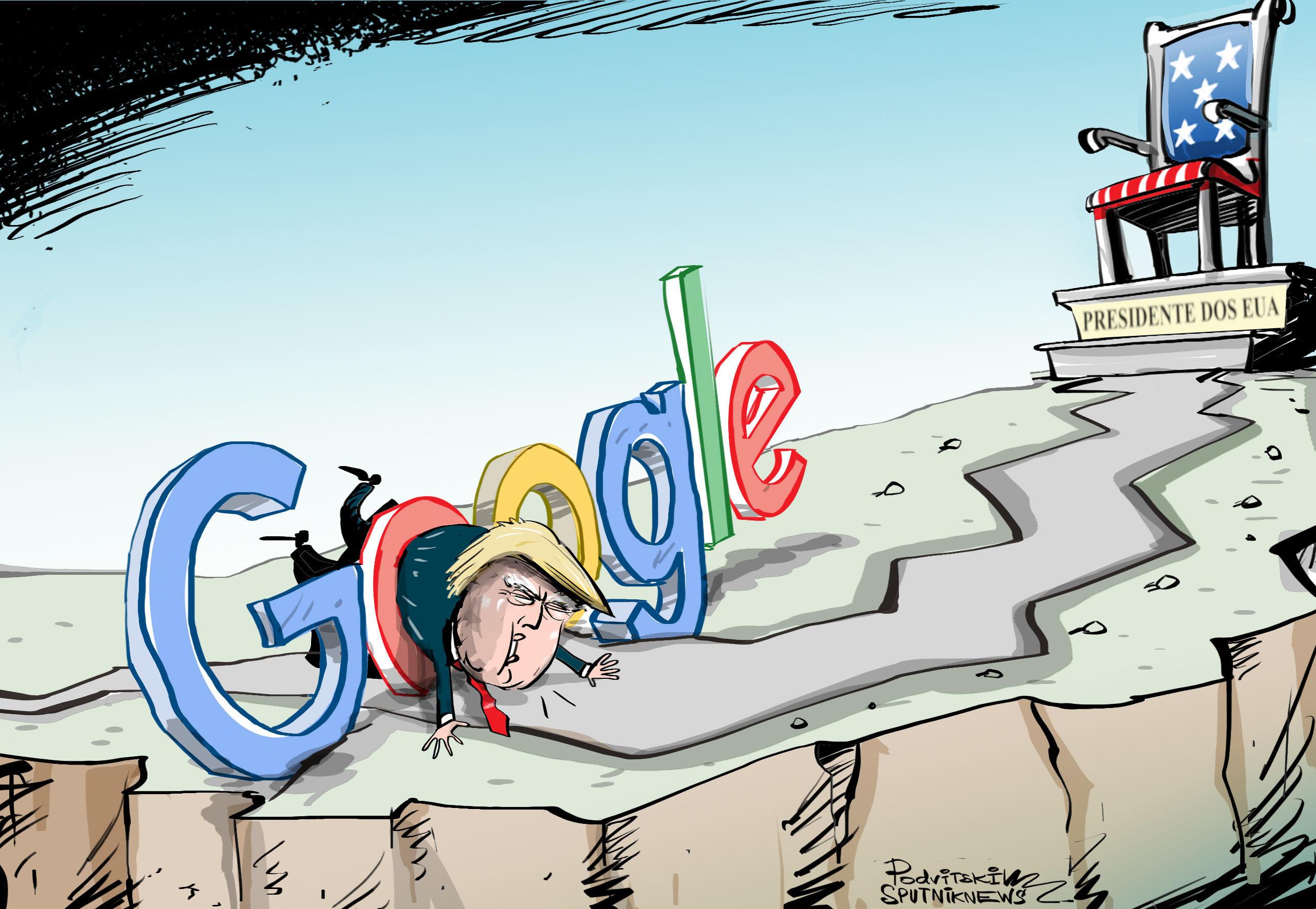 Google não deixa Trump passar