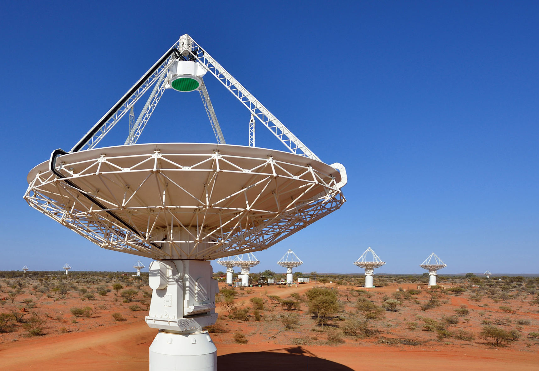 Antenas do radiotelescopio ASKAP na Austrália
