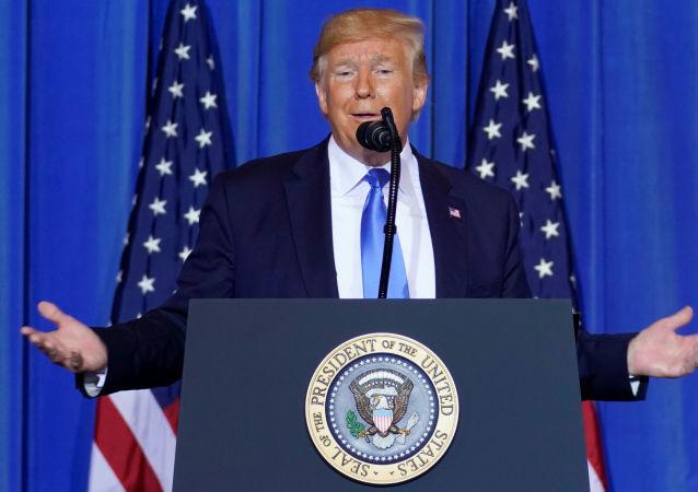 Presidente dos EUA, Donald Trump, durante a cúpula do G20, em Osaka, no Japão