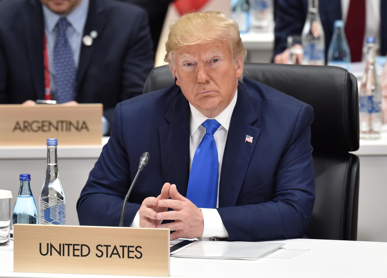 Presidente dos EUA Donald Trump na cúpula do G20 em Osaka