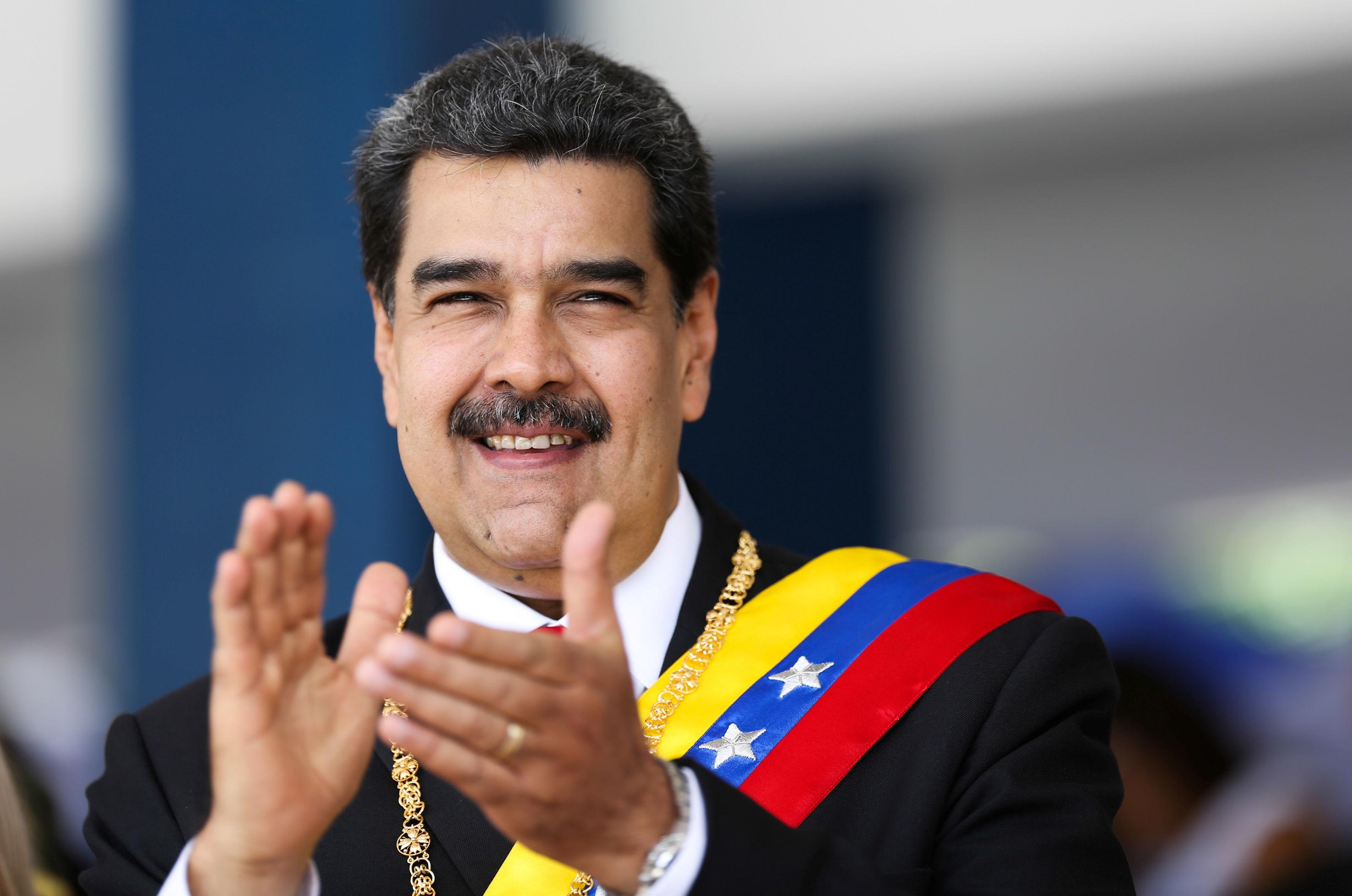 Presidente da Venezuela, Nicolás Maduro, participa de desfile militar para comemorar o 208º aniversário da declaração da Independência da Venezuela em Caracas, em 5 de julho de 2019