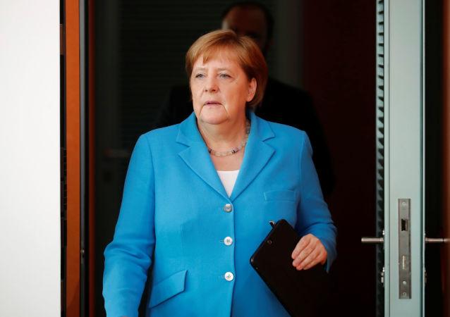 Chanceler alemã Angela Merkel participa de reunião na Chancelaria em Berlim, Alemanha, em 10 de julho de 2019