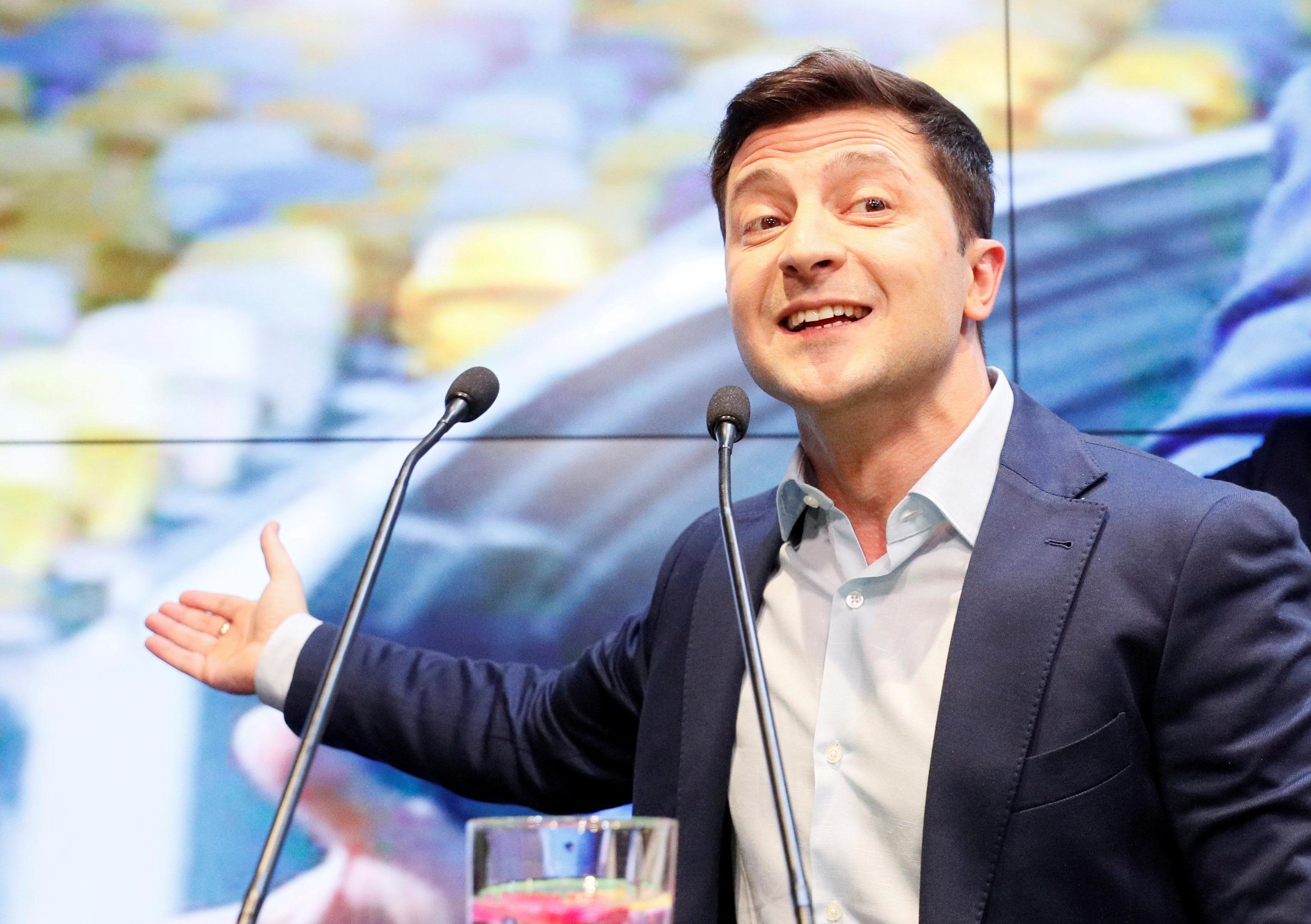 Vladimir Zelensky, vencedor das eleições presidenciais ucranianas