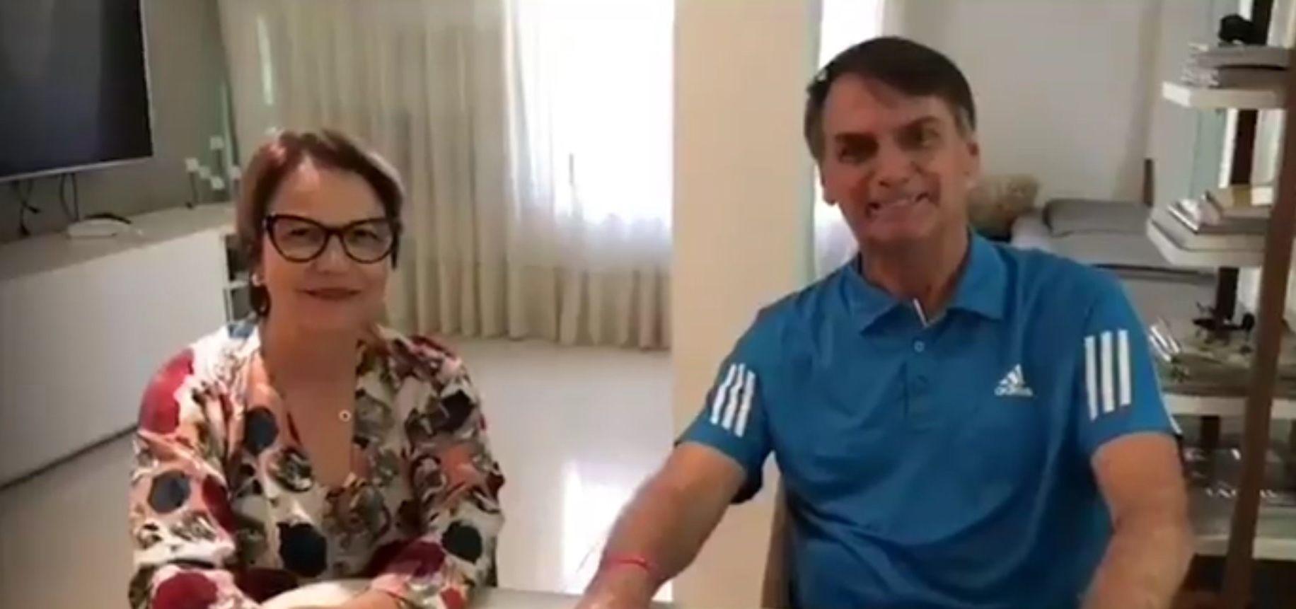 Bolsonaro e Tereza Cristina, da FPA.