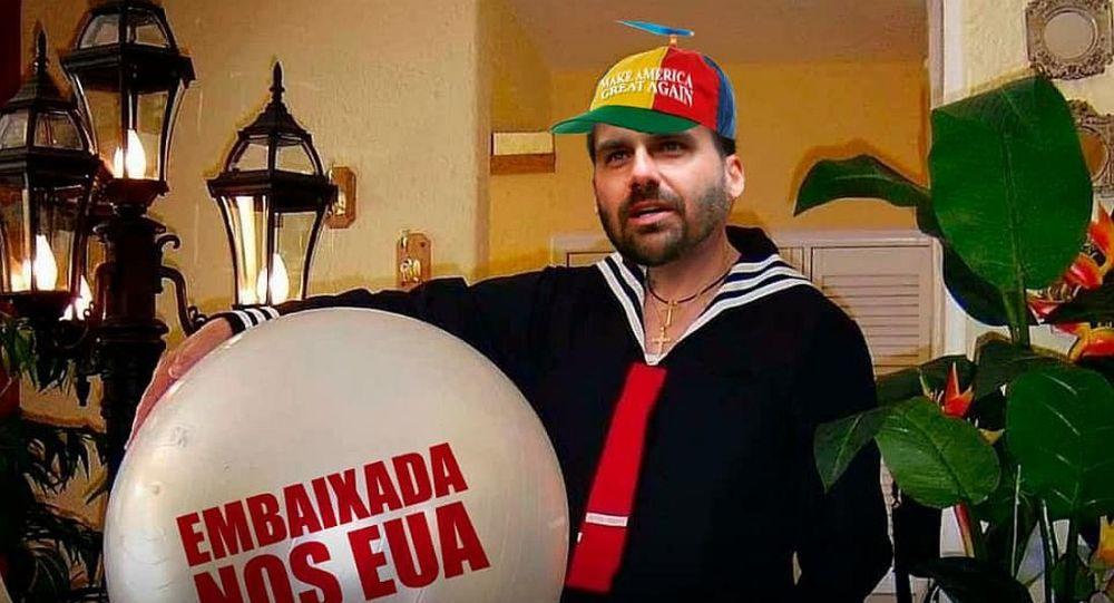 Resultado de imagem para eduardo bolsonaro embaixador charges