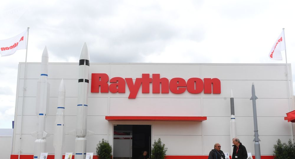 Pavilhão da empresa militar-industrial norte-americana Raytheon
