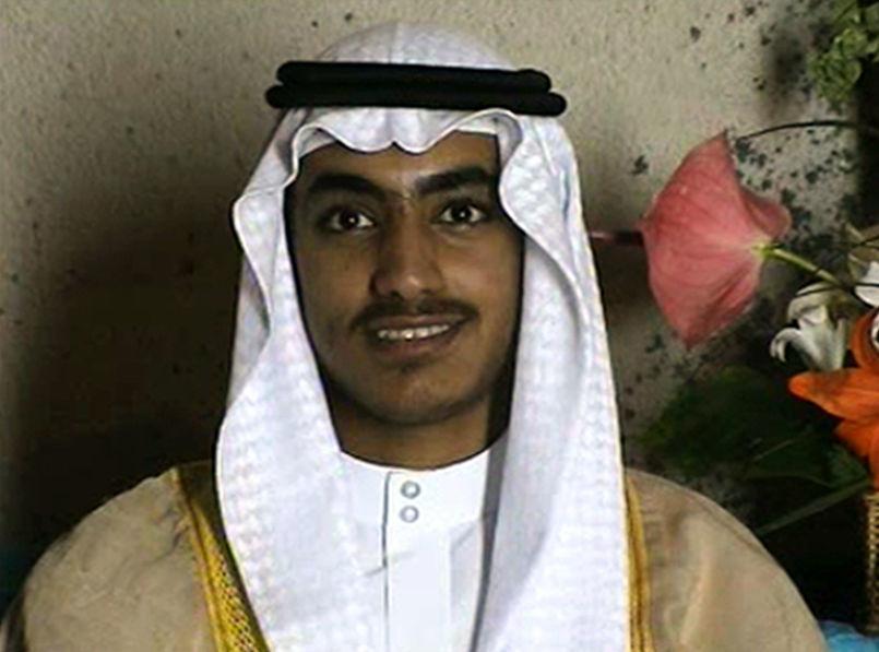 Hamza bin Laden no seu casamento (foto de arquivo)