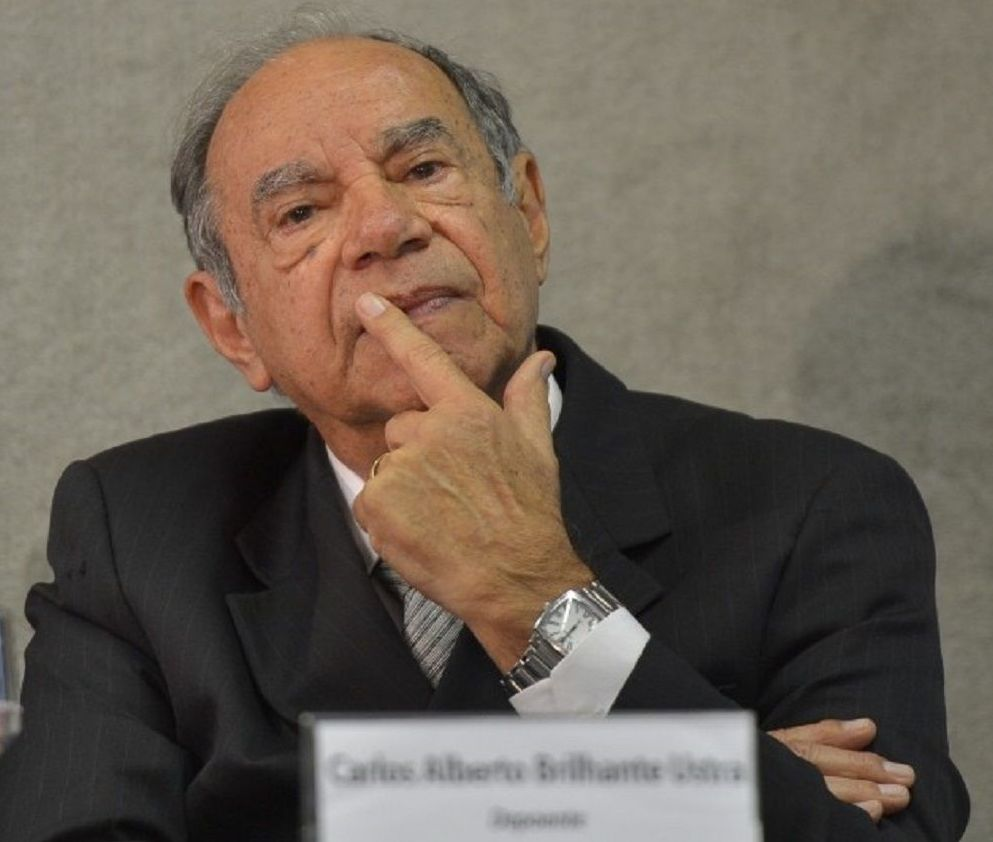 Carlos Alberto Brilhante Ustra, coronel que chefiou o DOI-CODI, órgão de repressão da ditadura brasileira, de 1970 a 1974
