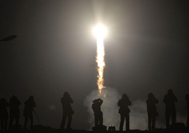 Lançamento de foguete do Cosmódromo Baikonur