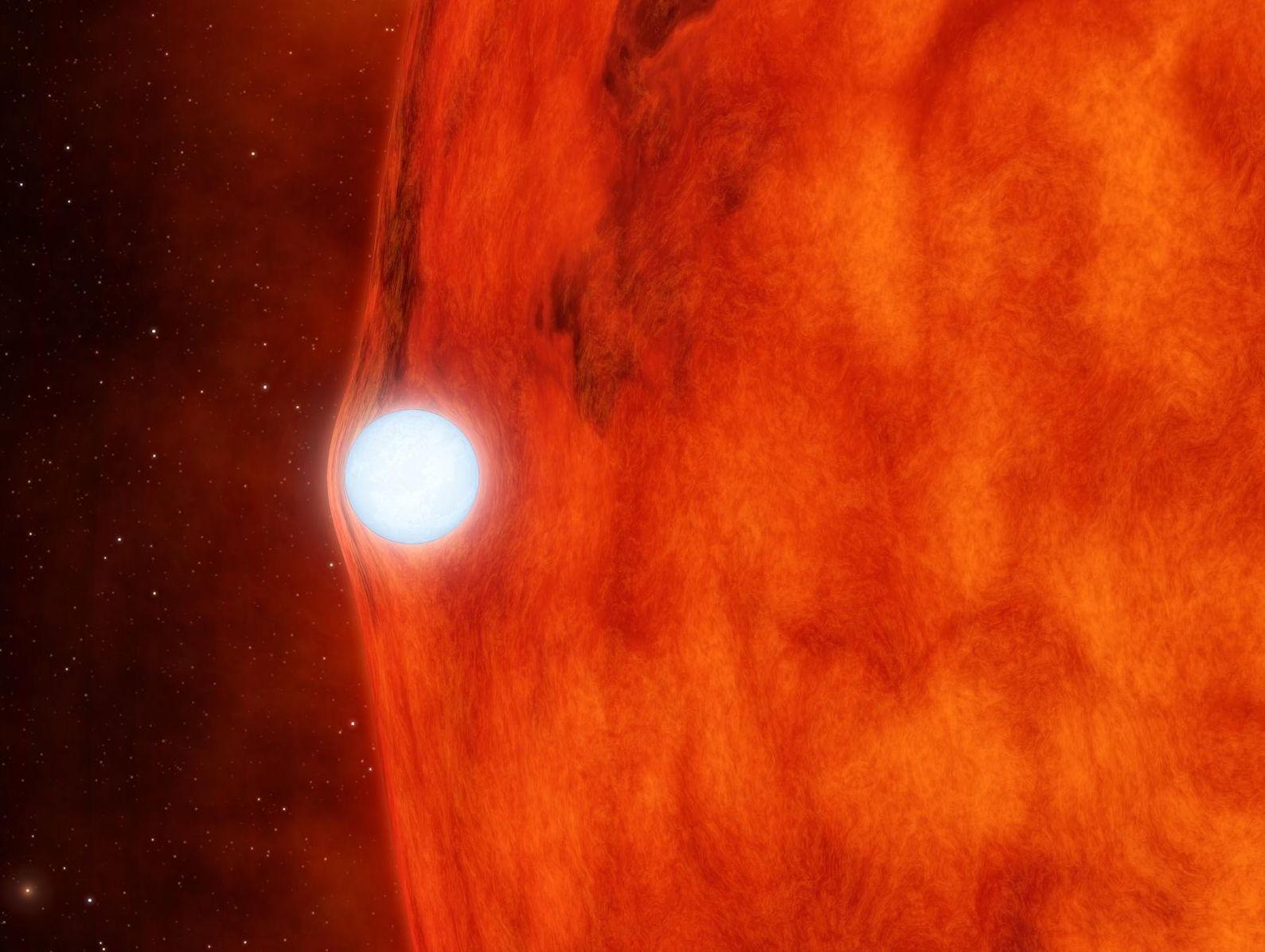 Representação de uma estrela anã branca