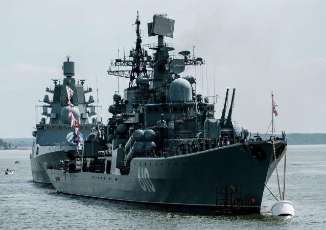 Destróier Nastoychivy na região de Kaliningrado, Rússia