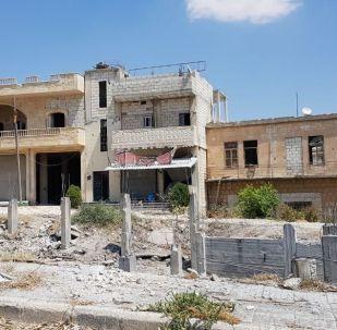 Сidade síria de Khan Shaykhun, no sul da província de Idlib, após a libertação dos terroristas