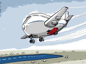 Aterrissagem nem um pouco leve