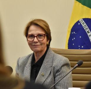 Ministra da Agricultura, Pecuária e Abastecimento, Tereza Cristina Corrêa, participa do quarto Diálogo Brasil-Japão