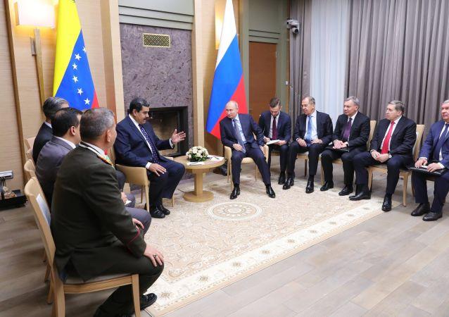 Encontro entre presidente russo, Vladimir Putin, e presidente venezuelano, Nicolás Maduro, 5 de dezembro de 2018