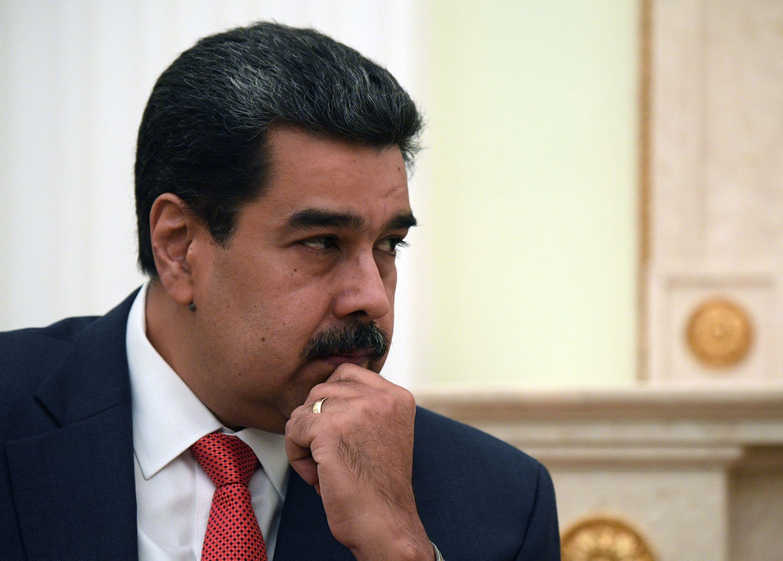 Presidente venezuelano, Nicolá Maduro durante reunião com presidente russo, Vladimir Putin
