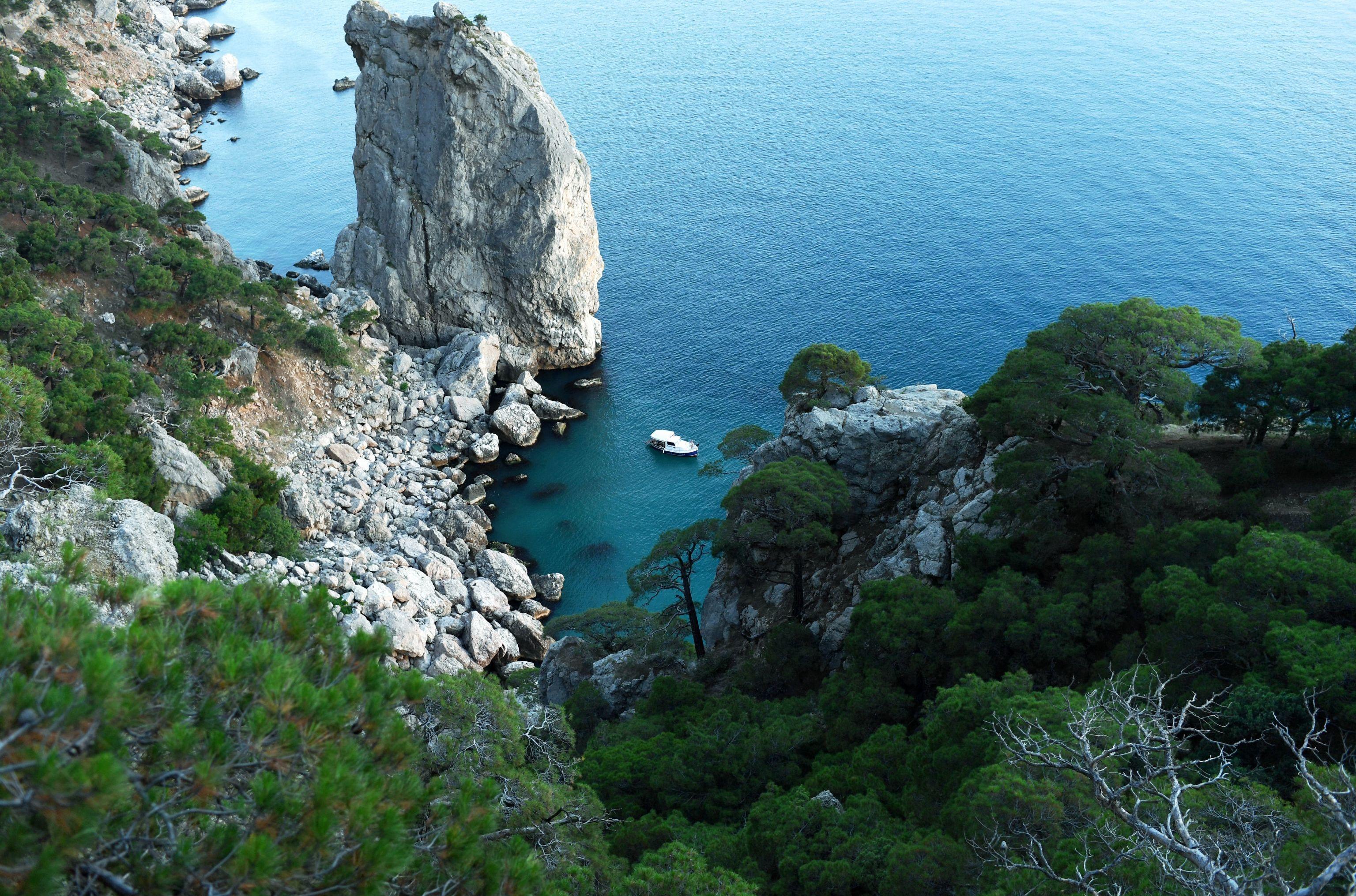 Península da Crimeia, situada na costa do mar negro