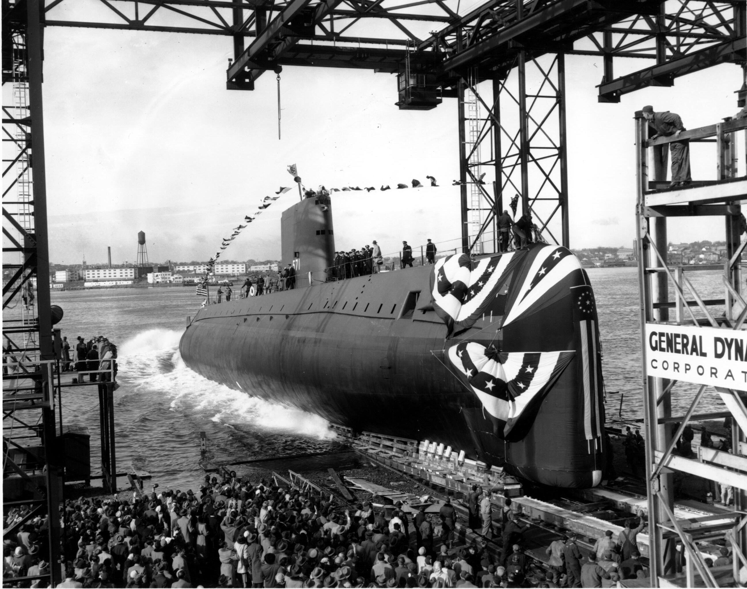 Primeiro submarino nuclear americano  USS Nautilus em Connecticut, Estados unidos