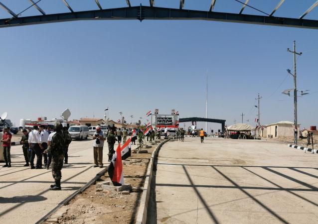 Vista da fronteira entre o Iraque e a Síria entre as cidades de Al Qa'im e Abu Kamal, depois de reaberta em 30 de Setembro de 2019