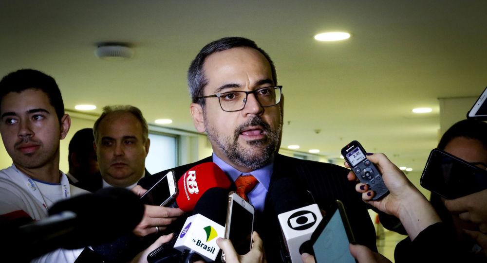 O ministro da Educação, Abraham Weintraub, participa do 21º Fórum Nacional Ensino Superior, na zona sul de São Paulo.