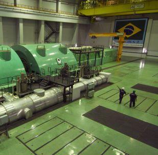 Turbinas da Usina Nuclear Angra 2, em Angra dos Reis, no Rio de Janeiro (arquivo)