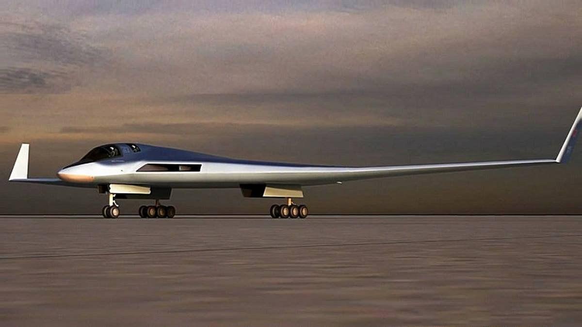 Uma imagem digital do bombardeiro russo PAK DA