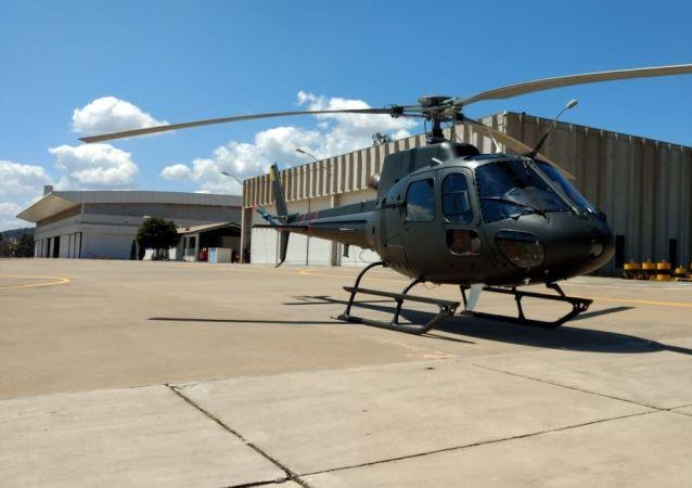 Helicóptero Fennec do Exército brasileiro.