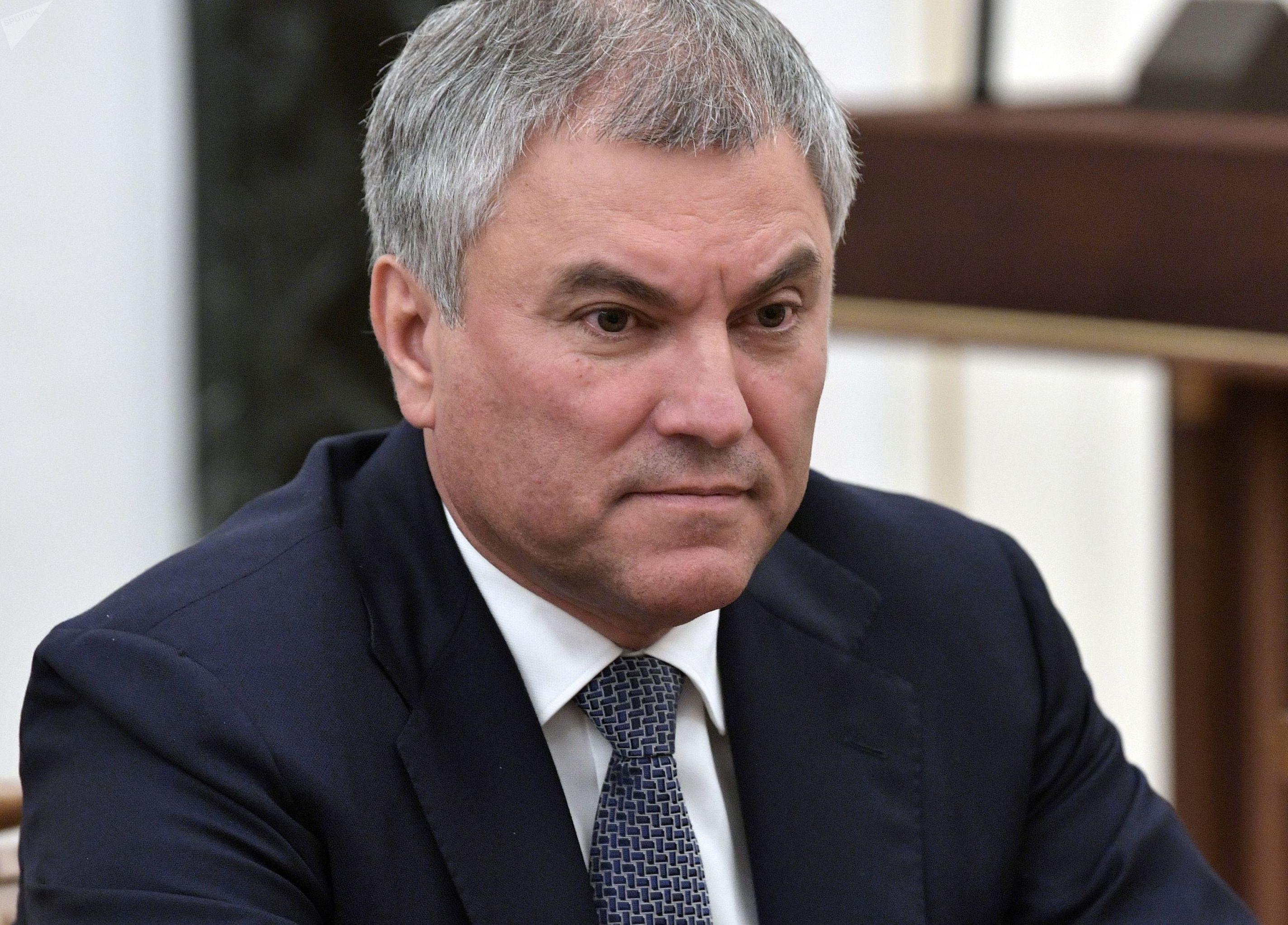 Presidente da câmara baixa do parlamento russo, a Duma, Vyacheslav Volodin, em outubro de 2019