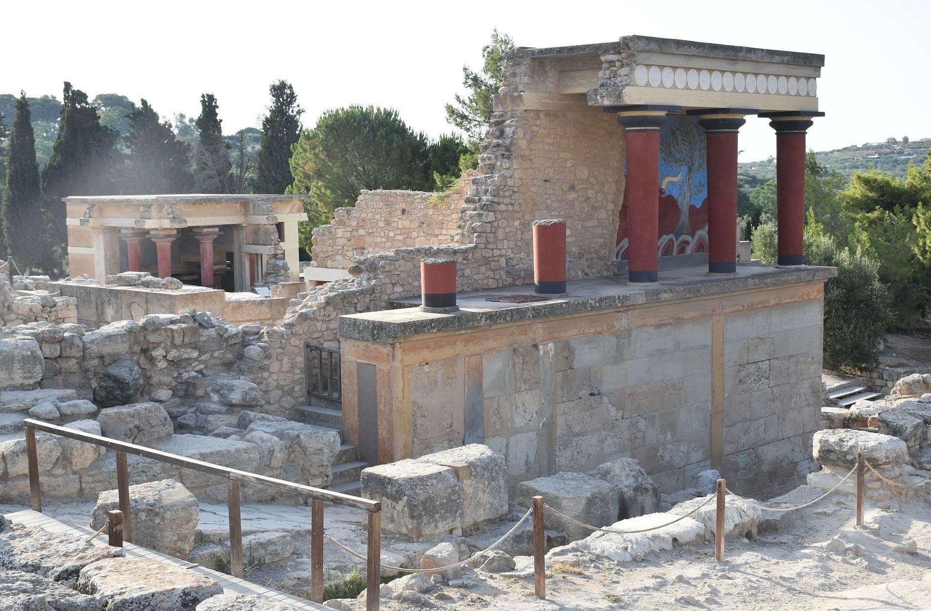 Sítio arqueológico de Cnossos na ilha de Creta