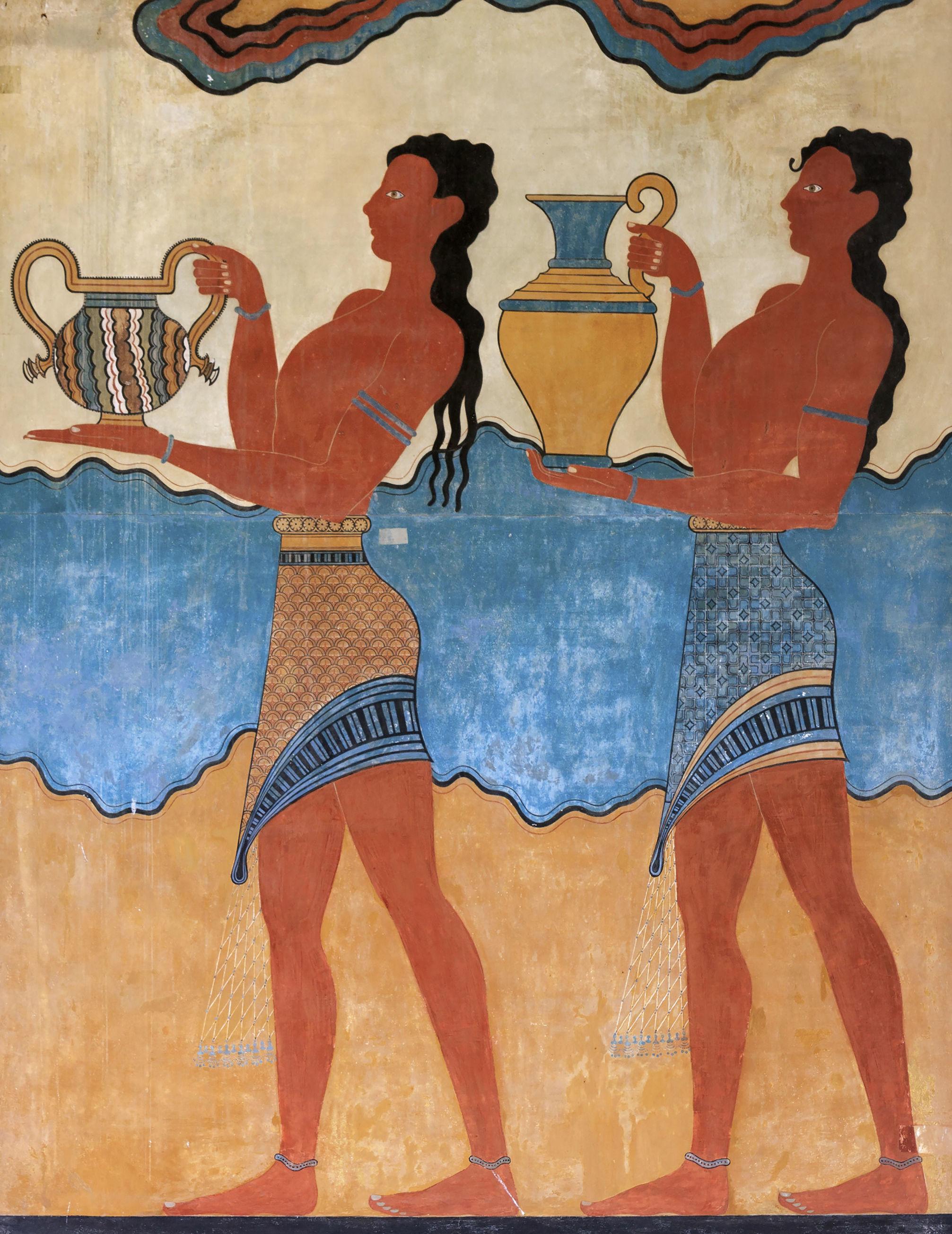 Pintura no Palácio dos Cnossos