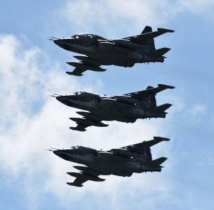 Jato de ataque Su-25 no 5º Fórum internacional de Equipamentos Militares, Armya-2019