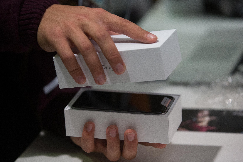 Uma caixa de iPhone (foto de arquivo)