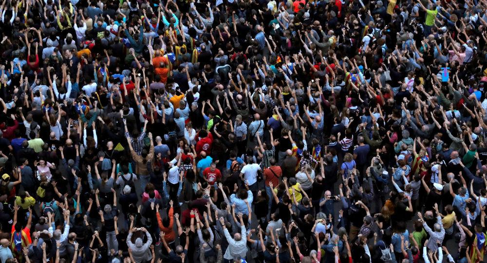 Protestos em Barcelona