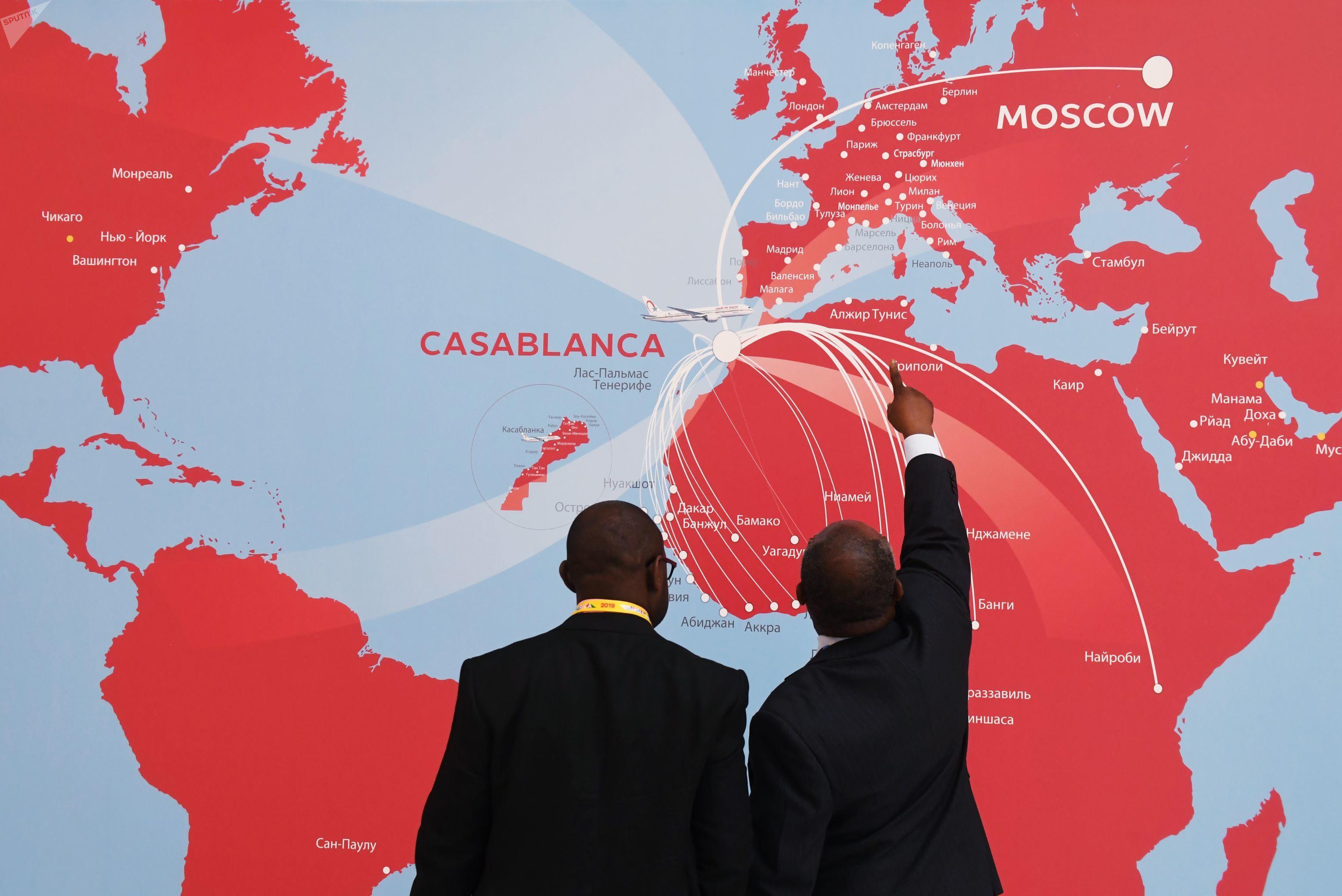 Participantes do Fórum Econômico Rússia-África