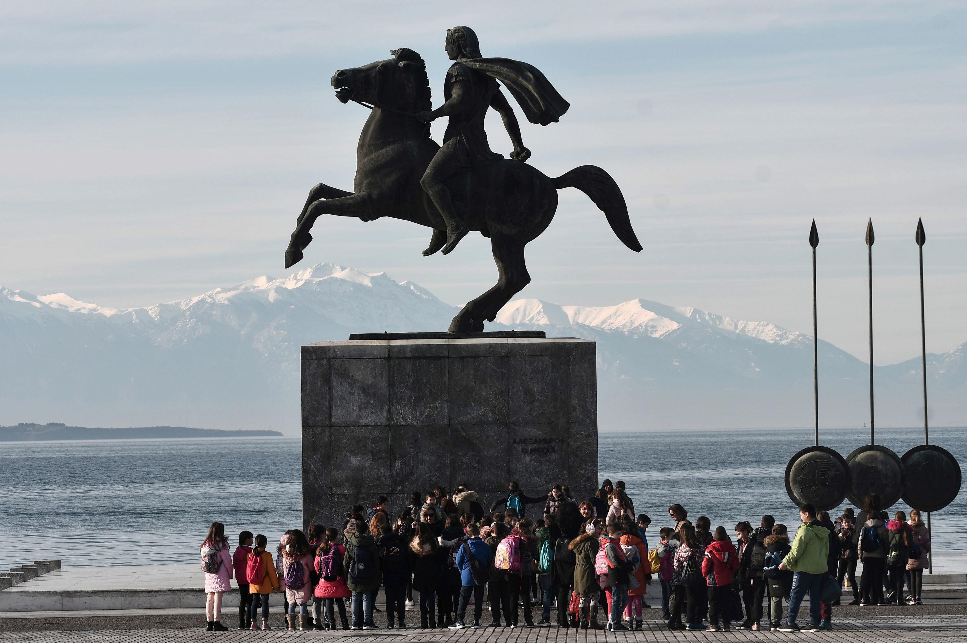 Estátua de Alexandre, o Grande em Tessalônica