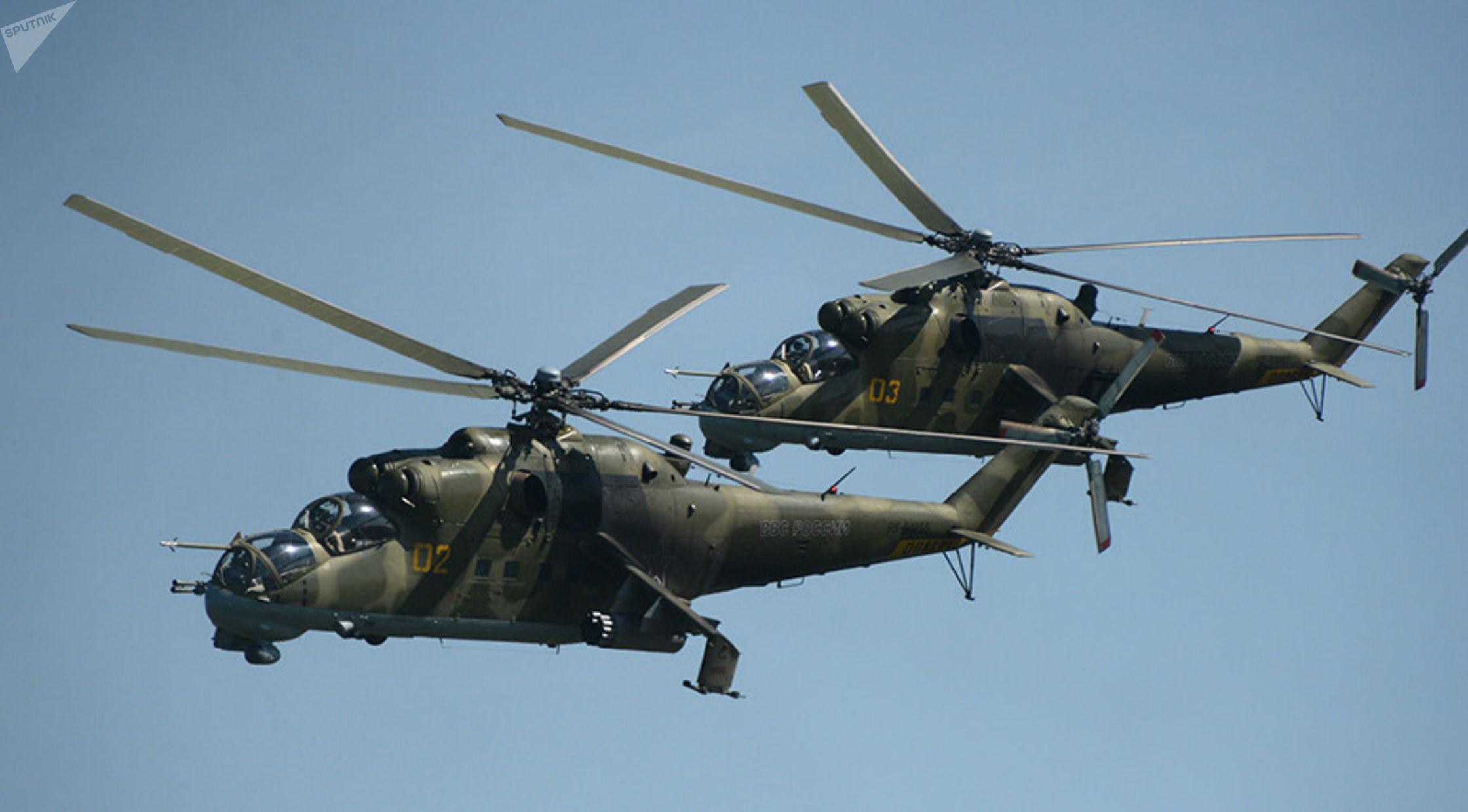 Helicópteros Mi-24 (imagem referencial)