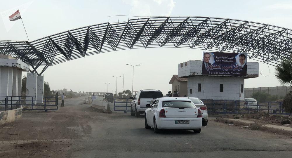 A passagem de Nassib na fronteira sírio-jordaniana