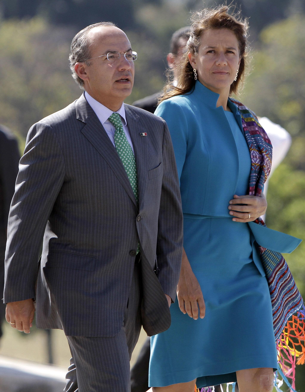 Ex-presidente mexicano Felipe Calderón e sua esposa Margarita Zavala em visita a Cuba em 2012