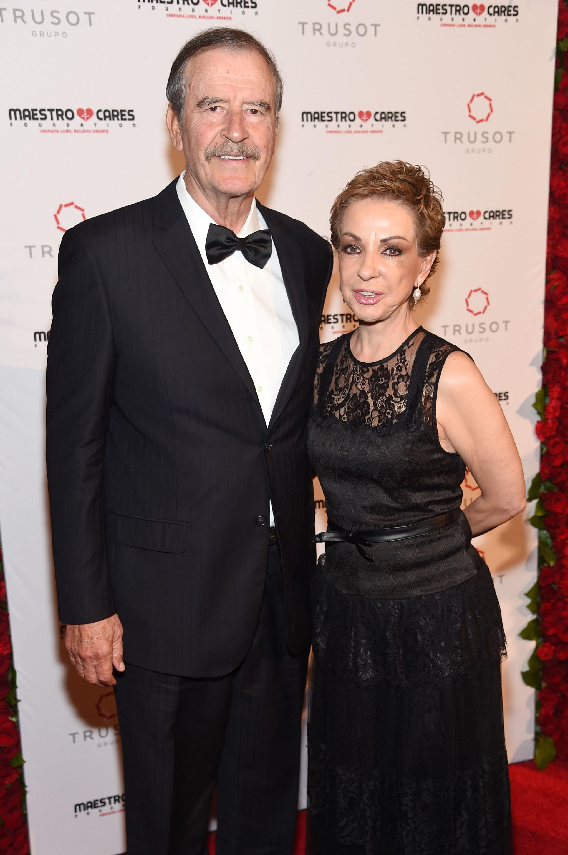 Ex-presidente mexicano Vicente Fox e sua esposa Marta Sahagún em evento em Nova York em 2019