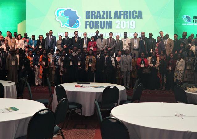Foto de encerramento do Fórum Brasil África 2019, em São Paulo