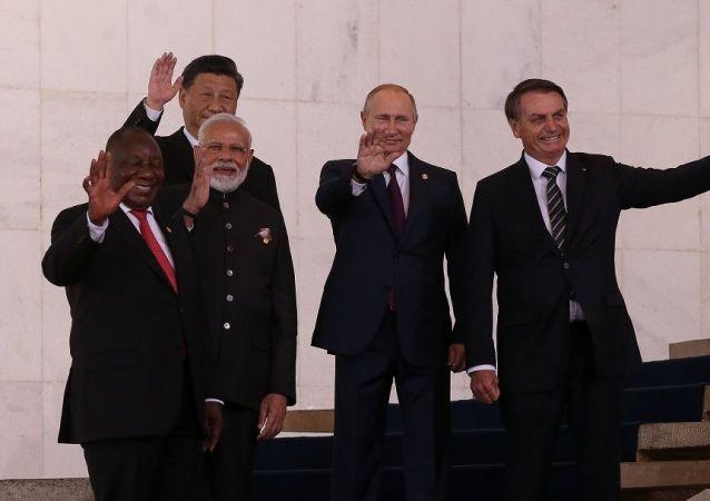 Líderes dos países membros do BRICS em Brasília