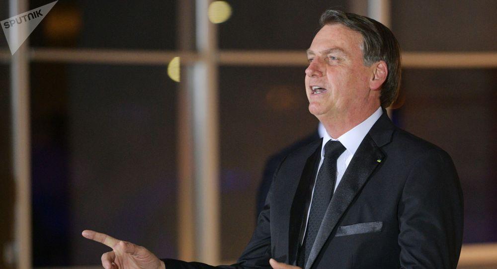 Presidente Jair Bolsonaro no Palácio do Itamaraty no decorrer da 11ª cúpula do BRISC em Brasília, 13 de novembro de 2019