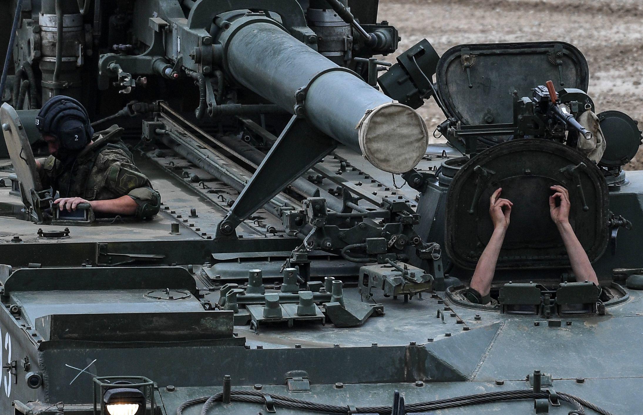 Morteiro 2S4 Tyulpan no fórum internacional técnico-militar EXÉRCITO 2017, na Rússia