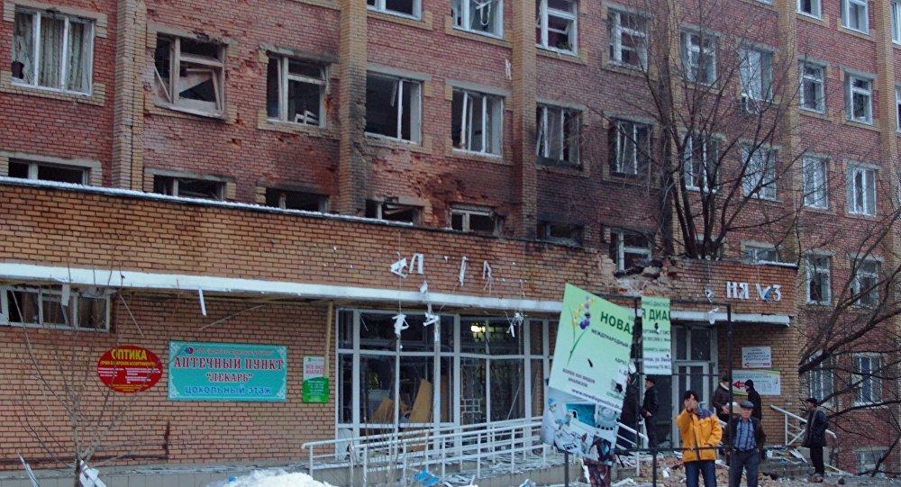 Projétil de artilharia atinge um hospital em Donetsk